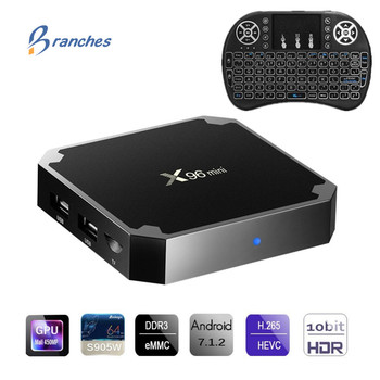 X96 mini tvbox Android 7.1 TV KUTUSU 2 GB 16 GB Amlogic S905W Quad Core 2.4 GHz WiFi Media Player 1 GB 8 GB X96mini Set-top Box